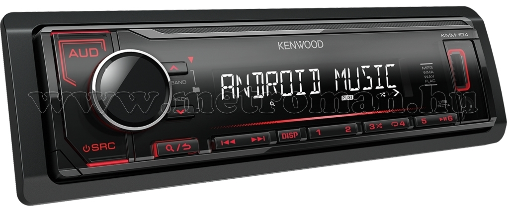 MP3/WMA/WAV/FLAC/AAC autórádió USB, AUX bemenettel Kenwood KMM-104RY