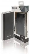 Külső mobil akkumulátor, USB töltő 15000 mAh KNPB15000BL