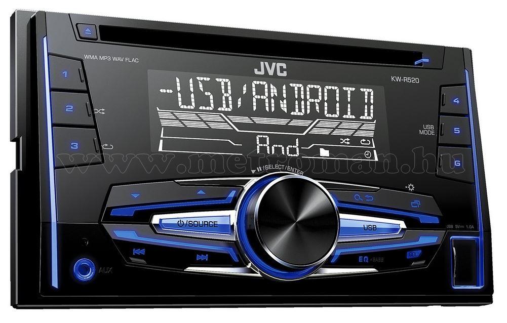 CD/USB/MP3 autórádió 2 DIN JVC KW-R520