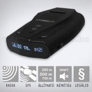 Radar- és lézerdetektor GPS adatbázissal KIYO KY-VTX950GPS