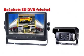 Kamion, teherautó, targonca, munkagép ipari tolatókamera szett, DVR rögzítővel Sharp Vision MO141D-CW635CAI
