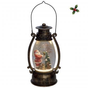 Karácsonyi LED lámpás vízkeveréssel csillámokkal LTN15