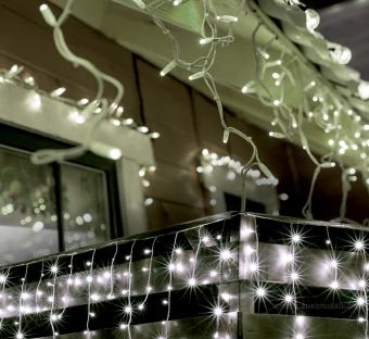 Karácsonyi kültéri LED fényfüzér hidegfehér jégcsap KKF908WH