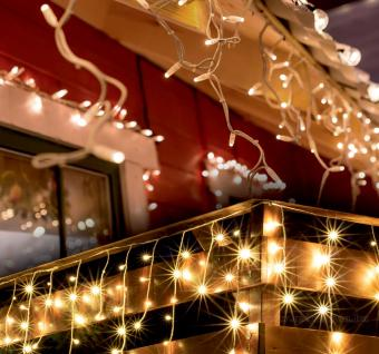 Karácsonyi kültéri LED fényfüzér melegfehér jégcsap KKF608WW