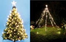 Karácsonyi LED Fény Piramis és LED fényfüzér LKD 200 TREE