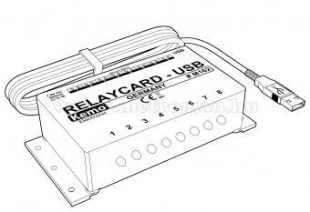 PC-ről vezérelhető USB Relé Kártya modul Kemo M162