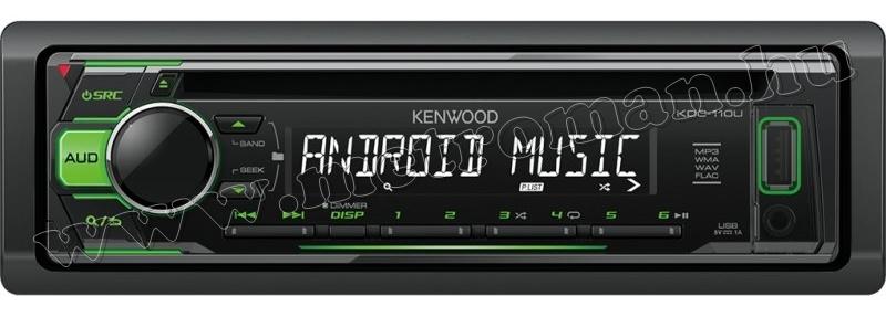 CD/MP3/WMA autórádió USB és AUX bemenettel, Kenwood KDC-110UG