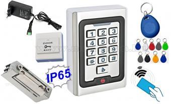 Komplett Kártyás és kódzáras Beléptető szett mágneszárral RFID M-500 EX