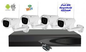 Komplett vezeték nélküli megfigyelő rendszer 2Mp Full HD Zoom-os és forgatható PTZ kamerákkal MN8805G52Mp-FHD