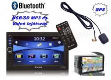 2 DIN USB/SD Bluetooth MP3 multimédia autórádió GPS navigációval 9880BT-GPS