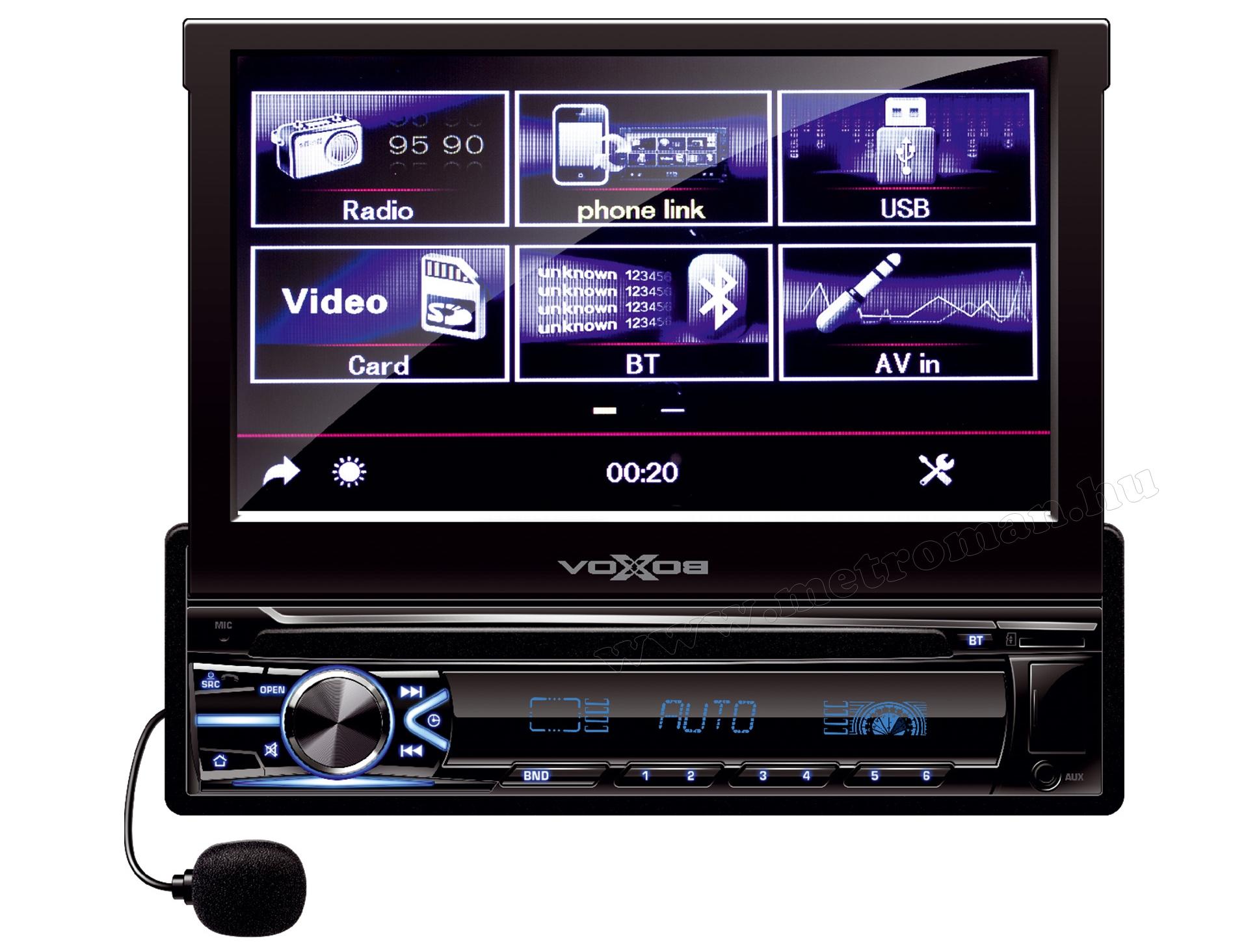 LCD érintőképernyős USB/SD Bluetooth Multimédia fejegység VoxBox VB X800