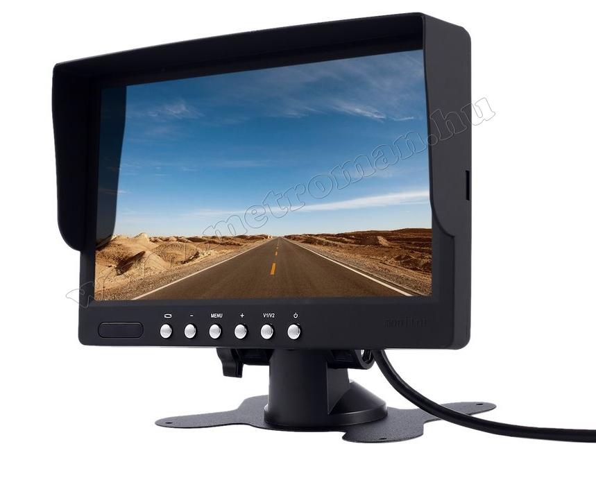 """Autós 7"""" LCD monitor tolatókamerához Mlogic MM-0002"""