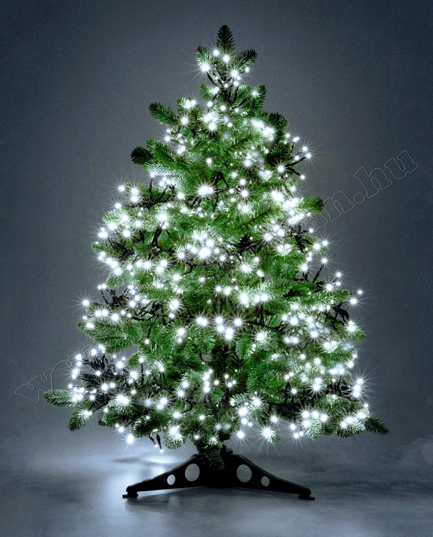 Karácsonyi LED-es cluster égősor, fényfüzér, hidegfehér LCS 768/WH