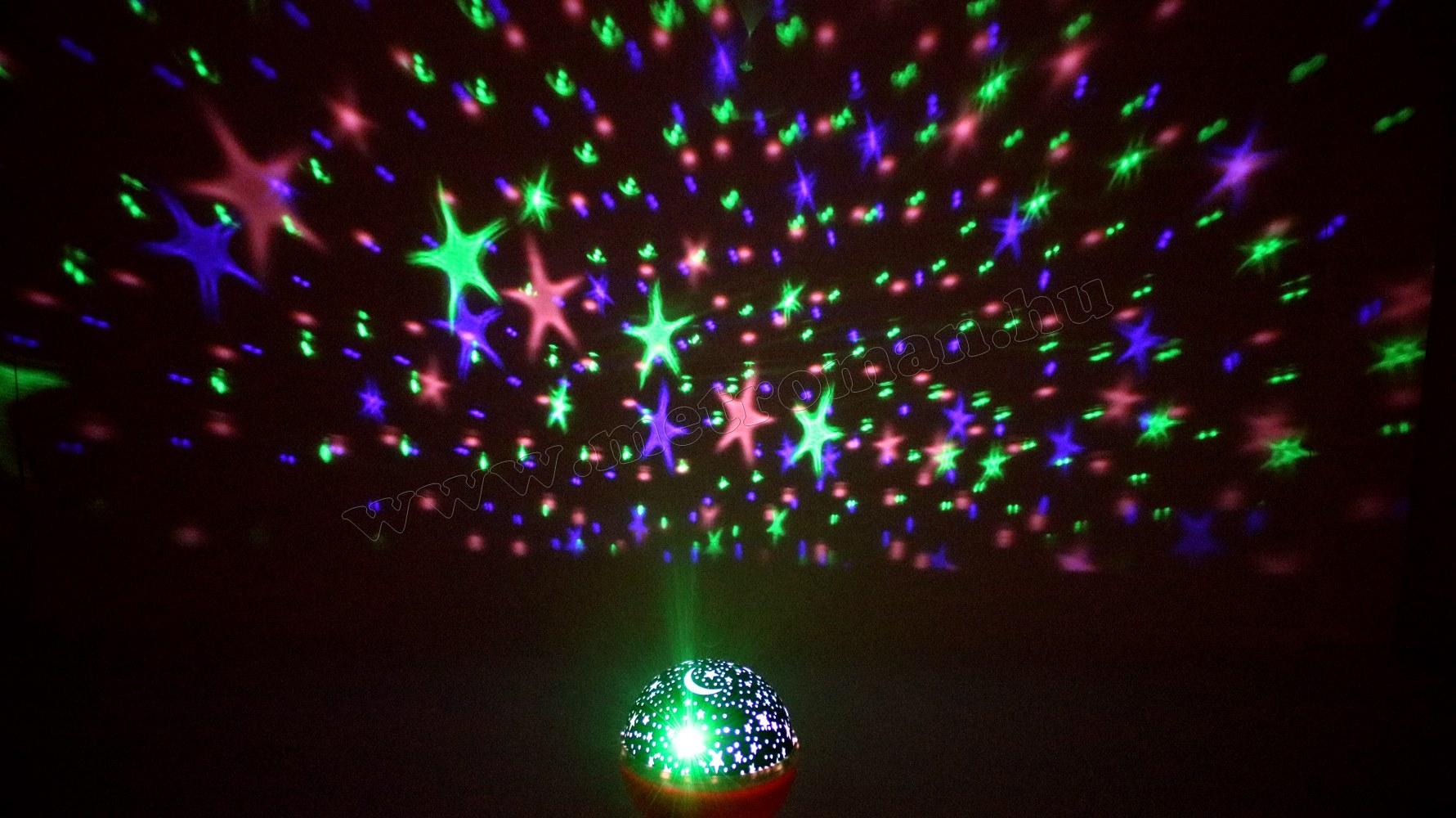 Csillagos égbolt RGB LED projektor M914BL