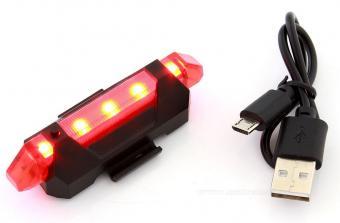 LED-es tölthető kerékpár hátsólámpa MD41A-LED