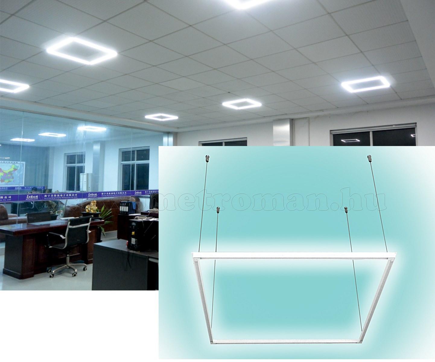 Álmennyezetbe építhető vagy Felfüggeszthető LED Lámpatest LMF 40/4000H
