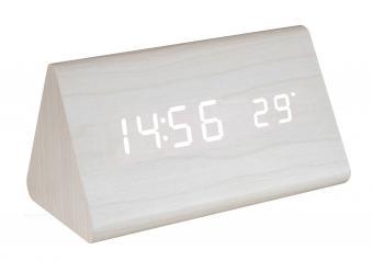 LED kijelzős fa ébresztőóra OC07