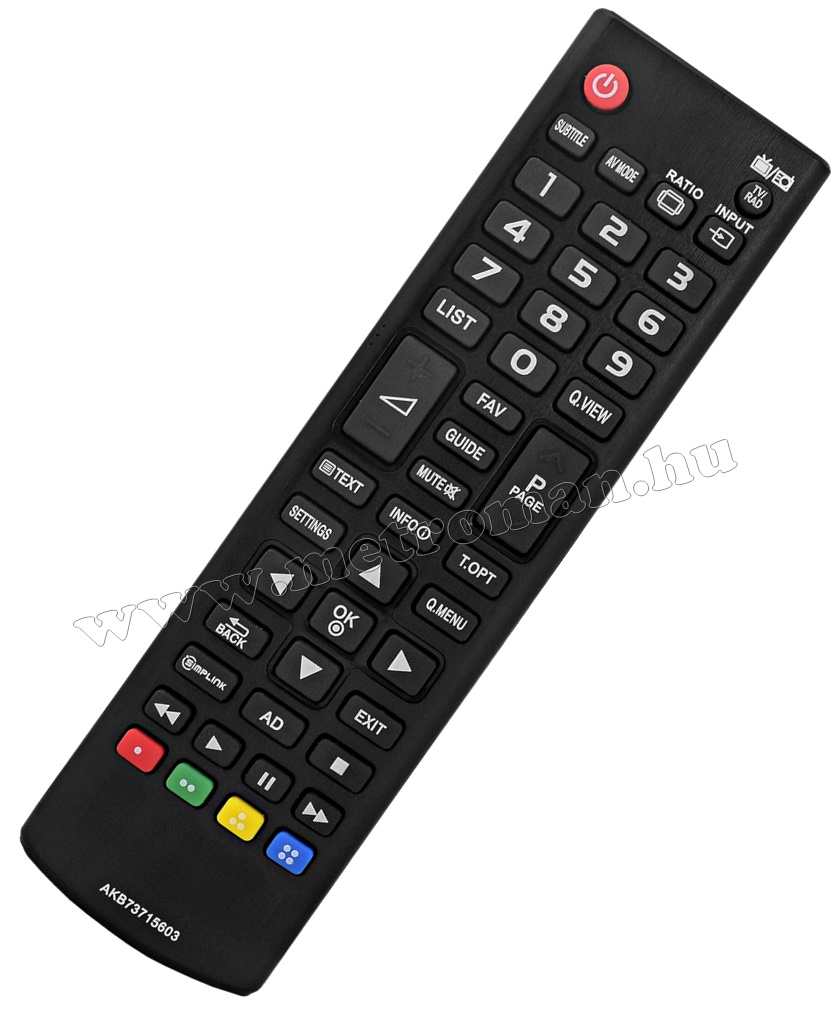 Utángyártott TV távirányító, LG  AKB73715603