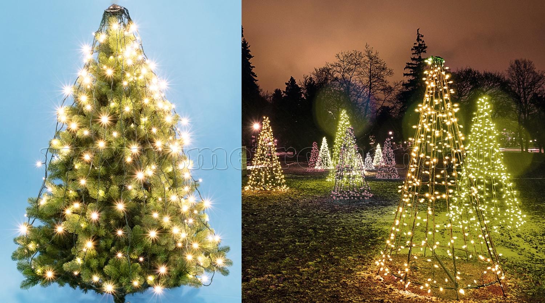 Karácsonyi LED-es fénypiramis és fényfüzér LKD 300