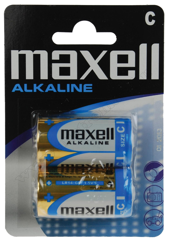 Alkáli 1,5 V-os, baby, C elem MAXELL LR14