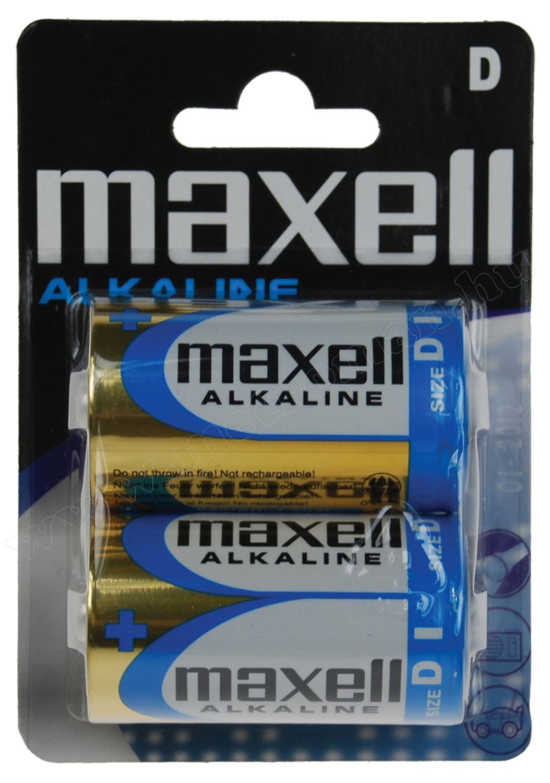 Alkáli 1,5 V-os góliát (D) elem MAXELL LR20
