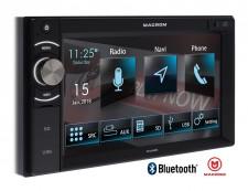 USB/SD, Bluetooth, GPS, multimédia, autórádió 2 DIN-es érintőképernyővel MACROM M-DL6000