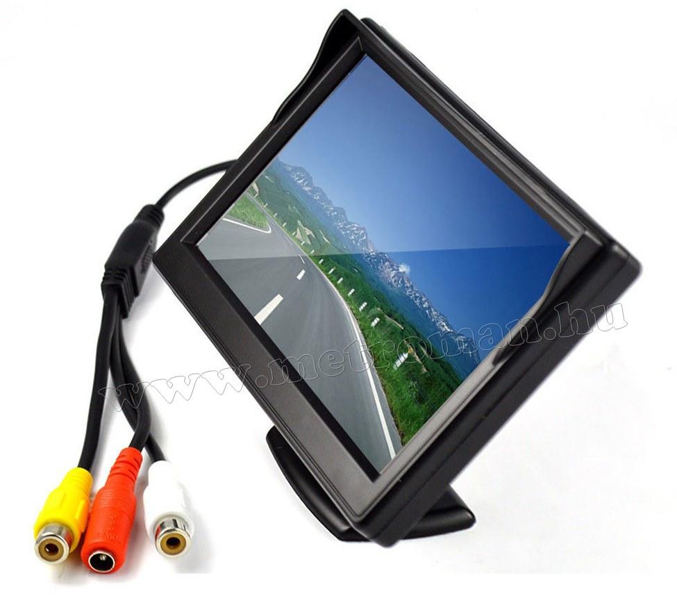 """Autós 5""""-os TFT LCD monitor, tolatókamerához Mlogic MM-0001"""