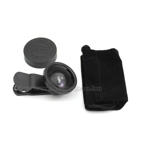 Telefon kamerára csíptethető nagylátószögű halszem optika M0645