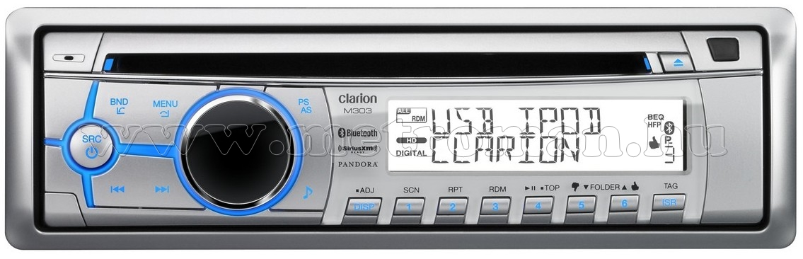 Hajó MP3/CD/WMA/Bluetooth rádió Clarion M303