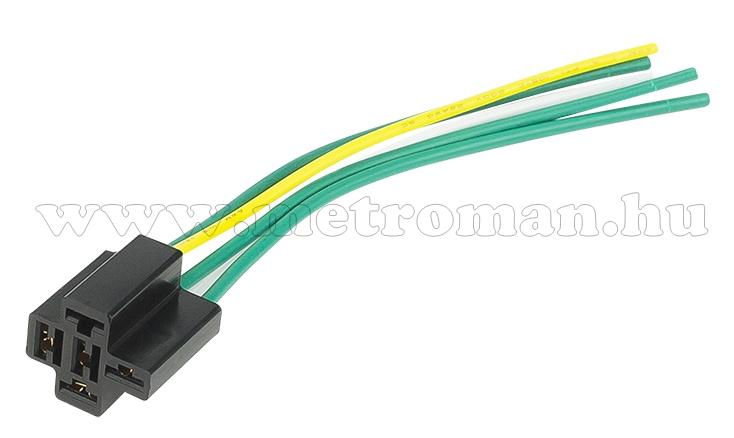 Relé foglalat kábellel 40A M393