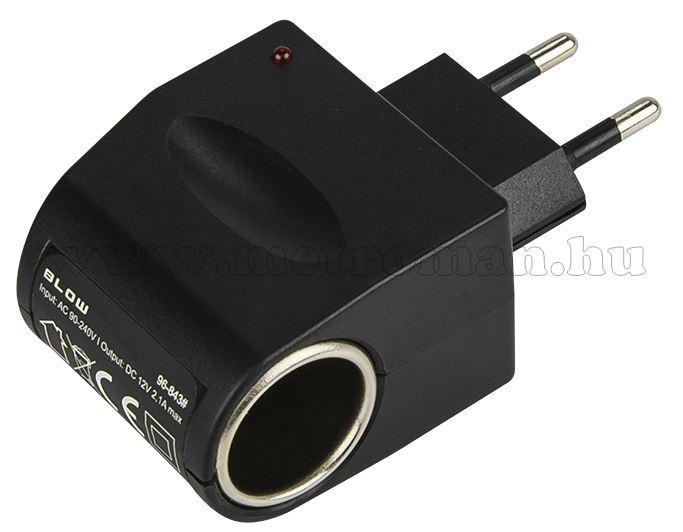 Hálózati adapter szivargyújtó aljzattal 230 V/ 12 V 2,1 A M843