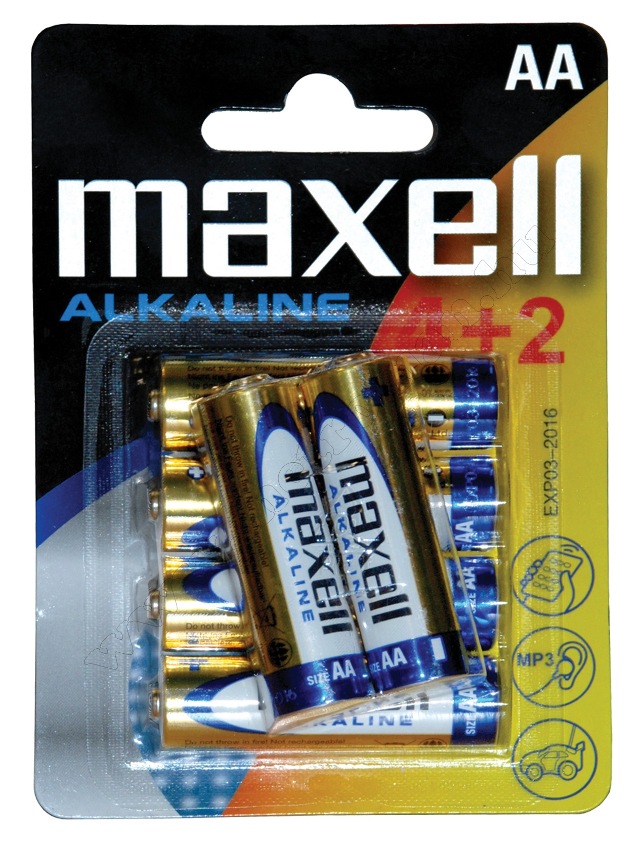 MAXELL LR6 alkáli tartós ceruza elem, AA 1,5 V 4+2 db