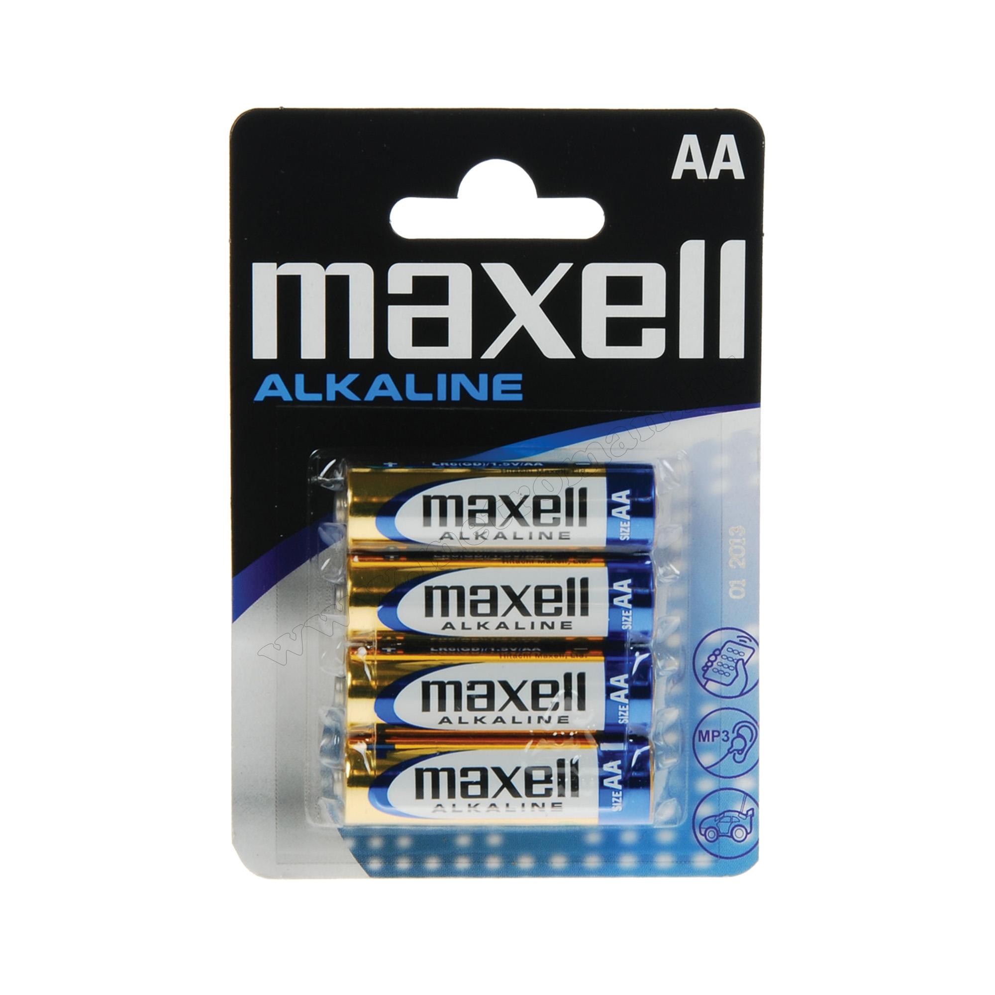 MAXELL LR6 alkáli tartós ceruza elem, AA 1,5 V