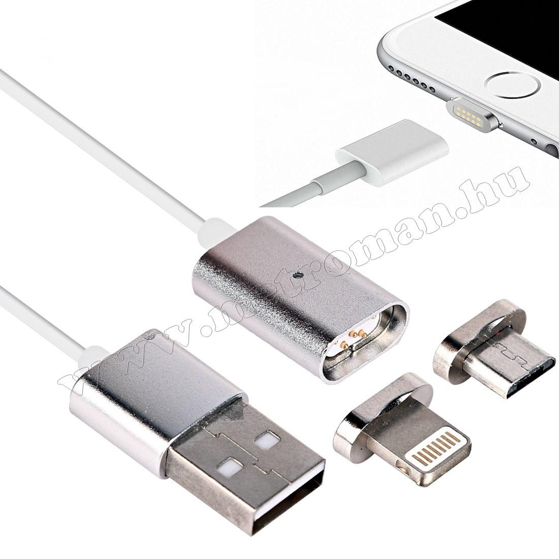 Mágneses micro USB telefon adat és töltőkábel G0360