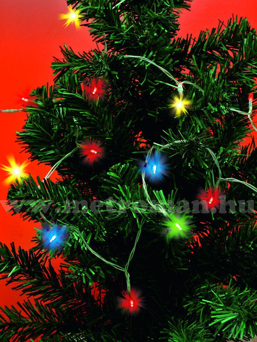 Karácsonyi, elemes LED égősor, mini Fényfüzér,  MLC 20/M Színes