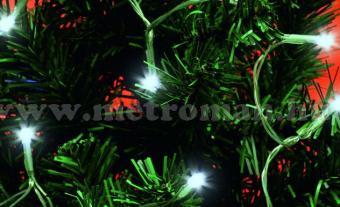 Karácsonyi, elemes LED égősor, mini Fényfüzér, MLC 20/WH Hideg Fehér