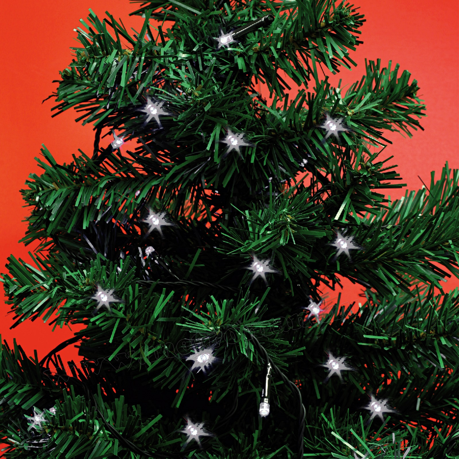 Karácsonyi, elemes LED égősor, mini Fényfüzér, MLC 58/WH Hideg Fehér