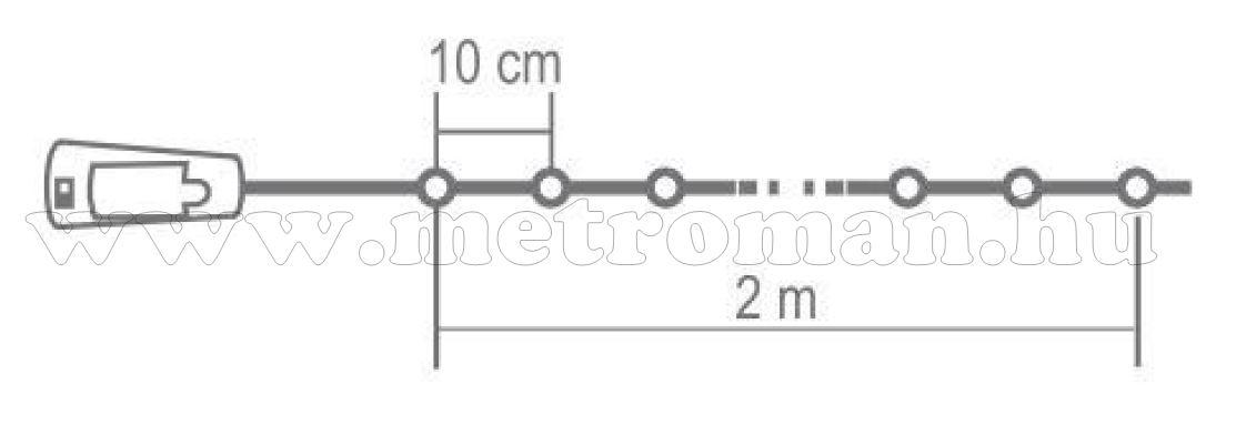 Micro LED-es elemes fényfüzér színes MLD 20/M