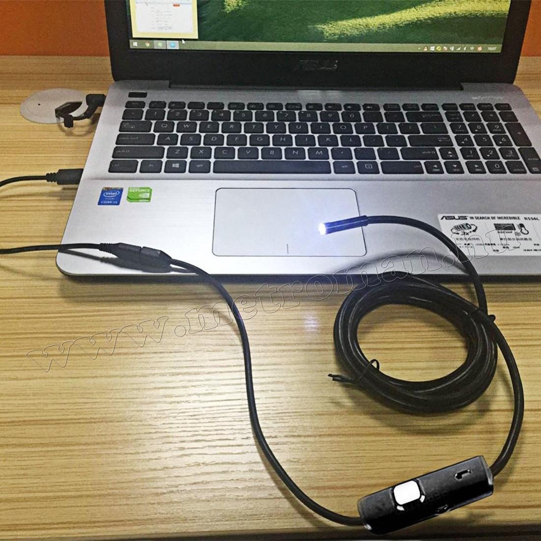 Android USB endoszkóp kamera, LED világítással, Mlogic MM-1666