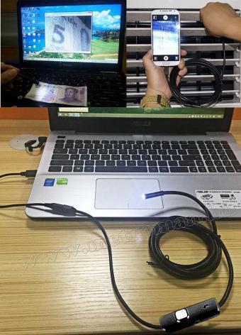Android USB endoszkóp kamera, LED világítással, Mlogic MM-1667