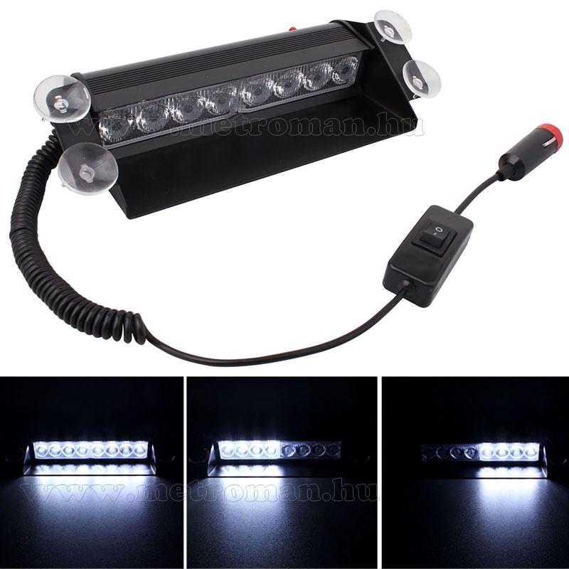 Autós Fehérstroboszkóp LED villogó szélvédőre, Mlogic MM-3343W