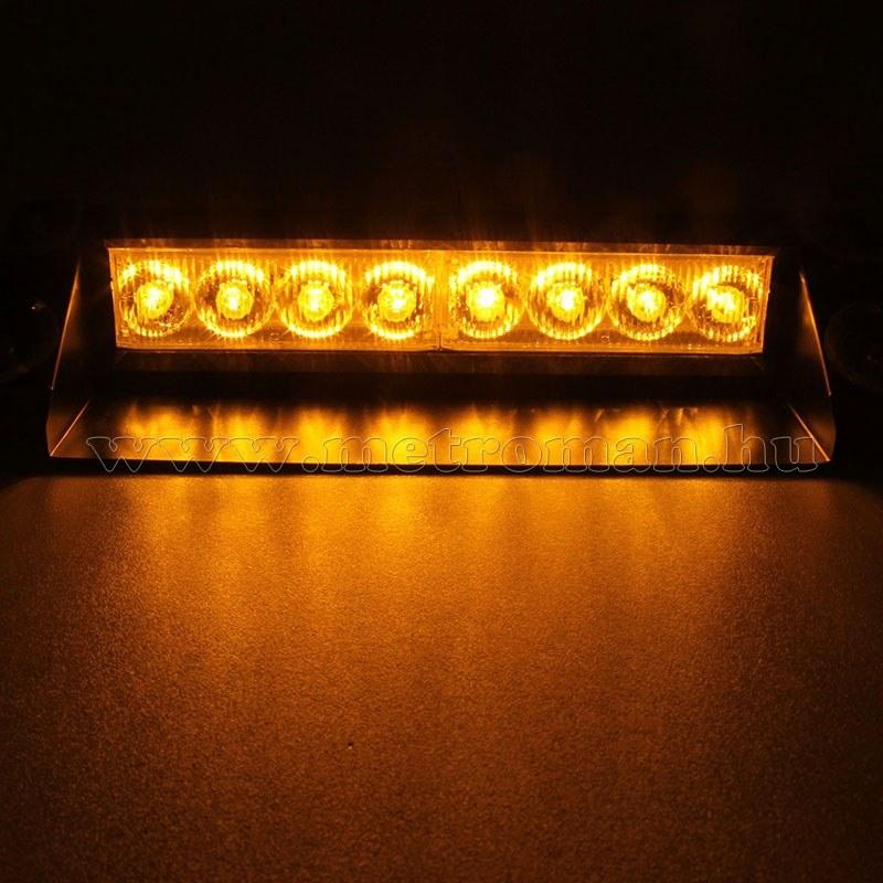 Autós Sárga stroboszkóp LED villogó szélvédőre, Mlogic MM-3343Y