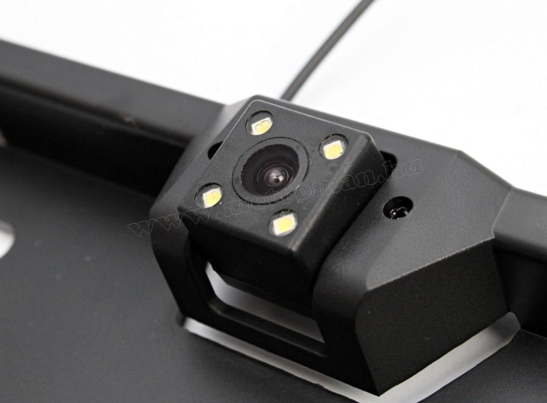 Rendszámtábla keretbe integrált tolatókamera Mlogic MM-3633 LED
