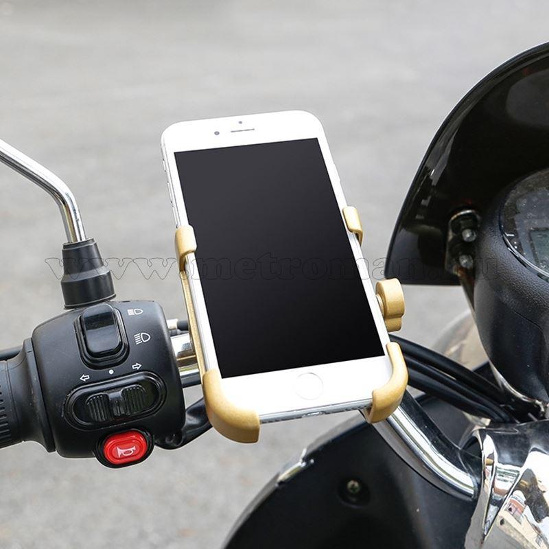Alumínium motoros telefontartó, fekete MM7377B