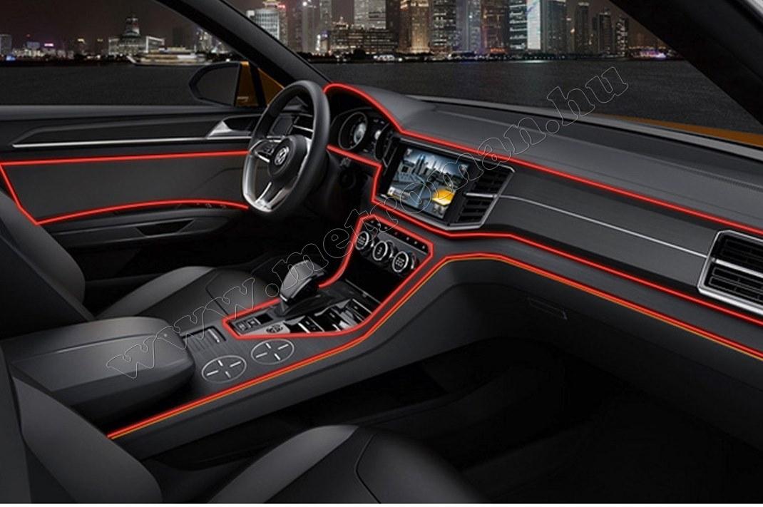 Autós 12V LED dekor szalag piros  MM-2863R 5m