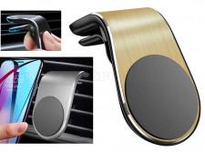Mágneses autós telefontartó szellőzőrácsra arany MM9856J