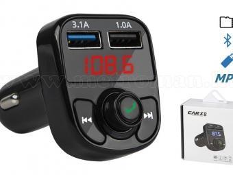 MP3 FM transzmitter és Bluetooth kihangosító MCARX8-BT