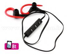 Bluetooth fülhallgató piros MS27C