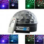 RGB LED Magic diszkó gömb és USB/SD MP3 lejátszó  MS39