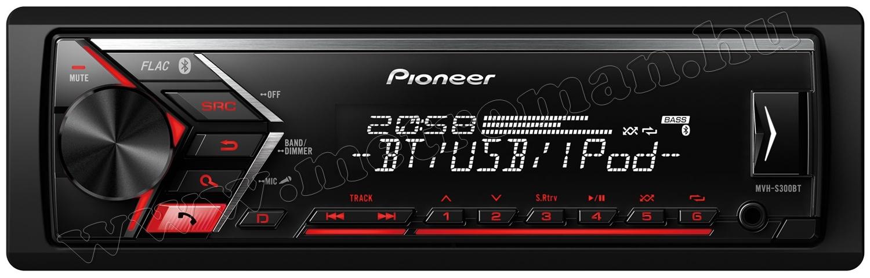 Pioneer MVH-S300BT autó rádió